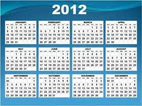 2012 Calendar Template by Unspoken Conversations Putting Things In To Perspective
