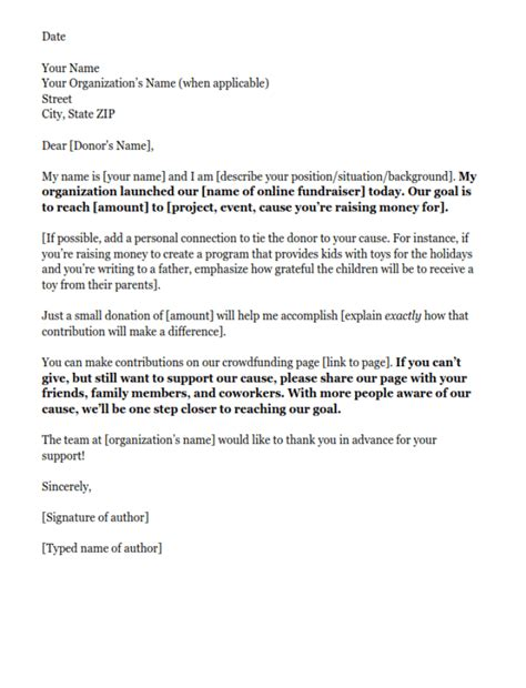 Fundraising Letter Template Fundraising Letters 7 Exles To Craft A Great Fundraising Ask