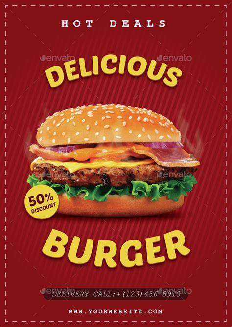 template flyer burger delicious burger flyer by rafiqfarzali graphicriver