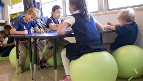 wobble chairs bouncy balls let students wiggle while they