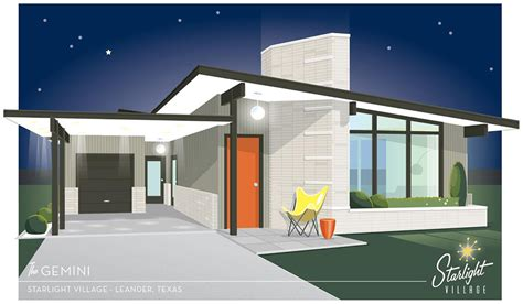 what is a mid century modern home starlight village a brand new midcentury modern styled
