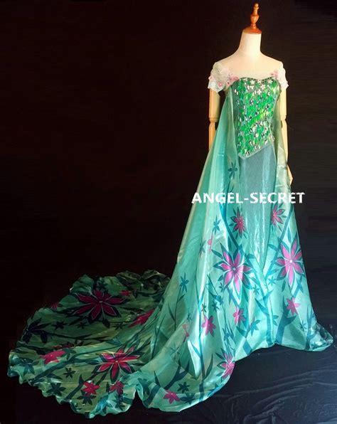 Dress Elsa New T1310 fj929 new frozen fever elsa green dress whole set elsa ebay and