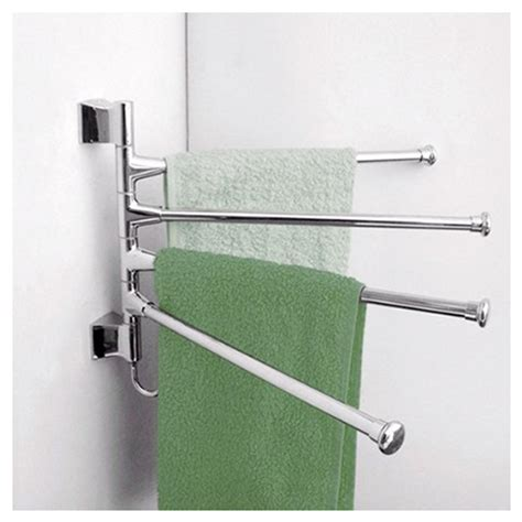 swing arm kitchen towel rack 2x wall mounted swing 4 arm kitchen towel rack stainless