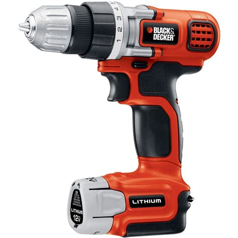Black Decker 12 Volt Max Lithium Ion Cordless Drill And