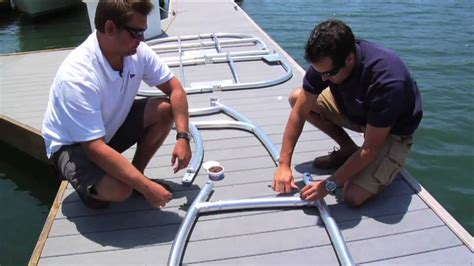 boat t top installation stryker t top installation part 1 youtube