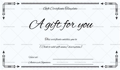 Business Gift Certificate Word Doc Formats Business Gift Certificate Template