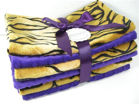 lsu school colors must minky burp set of 6 school colors lsu tigers