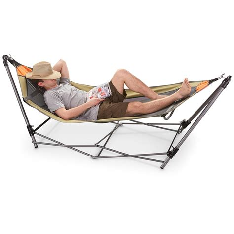 Hamac Portatif by Guide Gear Portable Folding Hammock 172580 Hammocks At