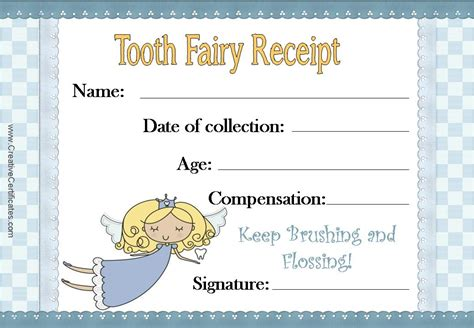 tooth fairy certificate template free tooth fairy