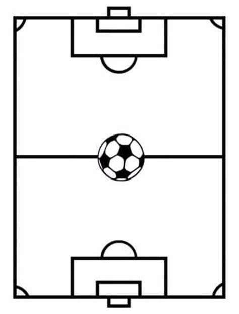 imagenes de un campo de futbol para colorear dibujos del
