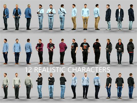 Superb 3d Modeling Online Free #3: 12-realistic-male-characters-3d-model-obj.jpg
