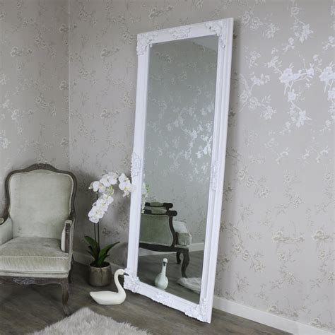 extra extra large ornate white full length wall floor