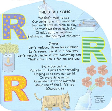 three s green kids the 3 r s song got2begreen