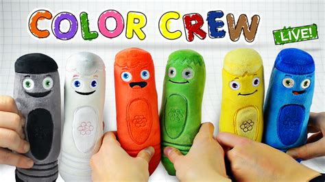 color crew learn colors with color crew soft toys for all of