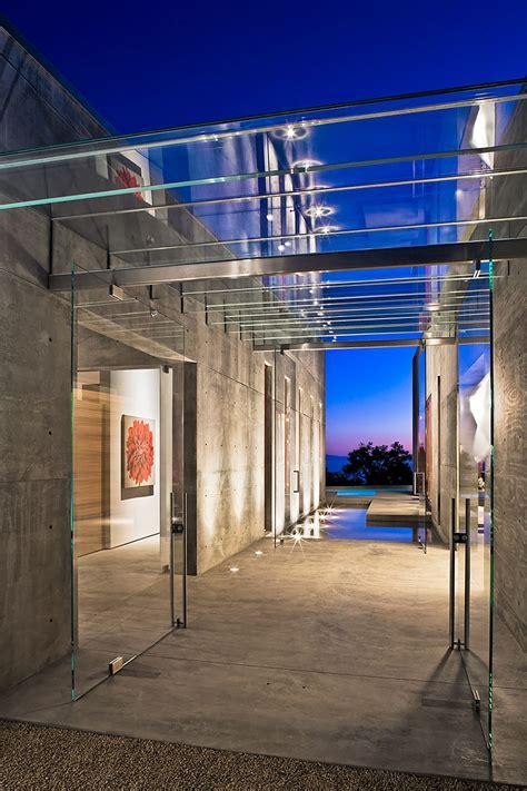 Narrow Bathroom Design contemporary concrete house in montecito california