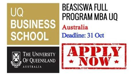 Eligibility For Doing Mba In Australia by Beasiswa Program Mba Di Of Queensland