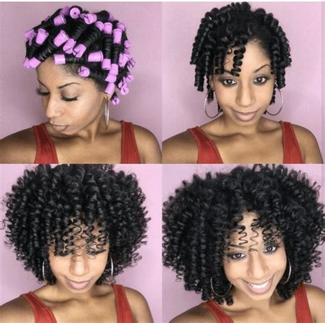 pictures of hair rolled on small rods perm rods on natural hair beautiful hairstyles perm rod