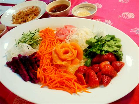 yee sang new year recipes new year reunion dinner yee sang and teochew