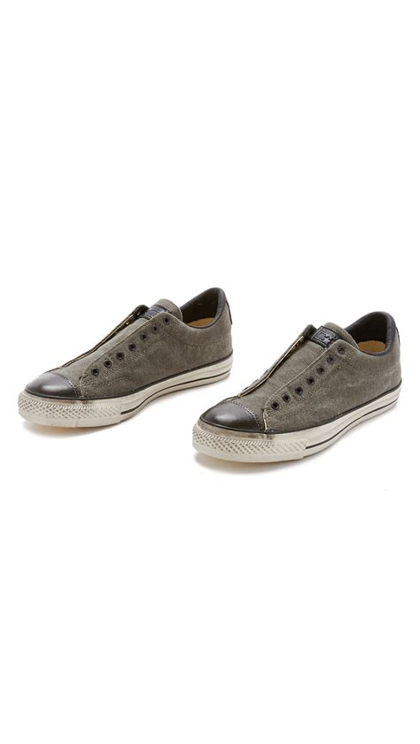 Converse Chuck All Slip Sneakers Hijau converse chuck all vintage slip on sneakers in black for lyst