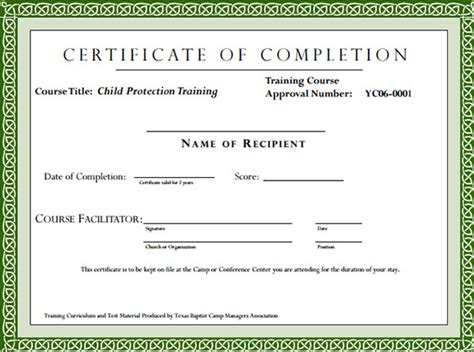 sle training certificate template 6 documents in psd
