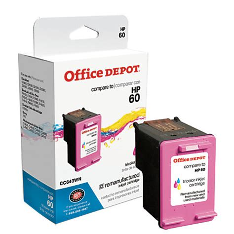 Office Depot Ink Cartridges office depot brand od643wn hp 60 remanufactured tricolor