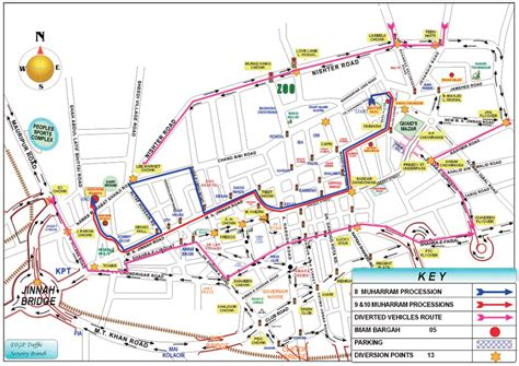 mideast hospital karachi map muharram security guide route map norbalm norbalm