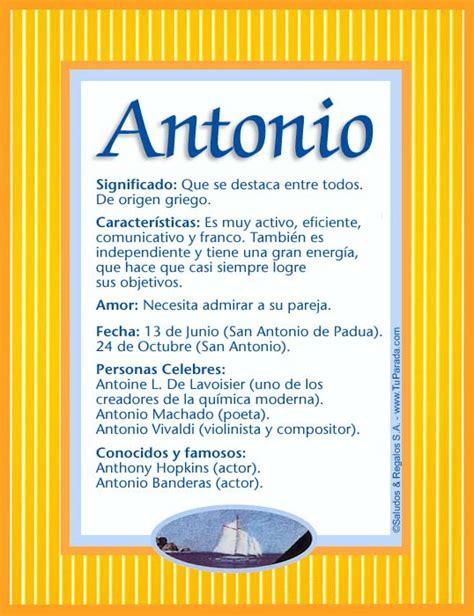 imagenes el significado de nombre alfredo antonio significado del nombre antonio nombres