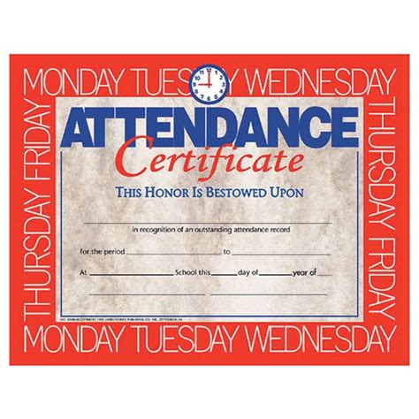 hayes publishing va580 attendance certificate schoolsin