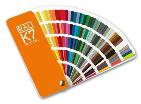 classic colors ral k7 color fan deck with 213 ral classic colors at