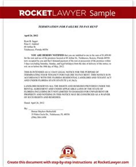 Rent Withholding Letter Florida 30 60 day termination of tenancy notice free eviction