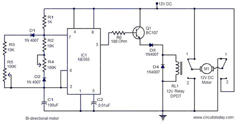 bi directional motor electronic circuits and diagram