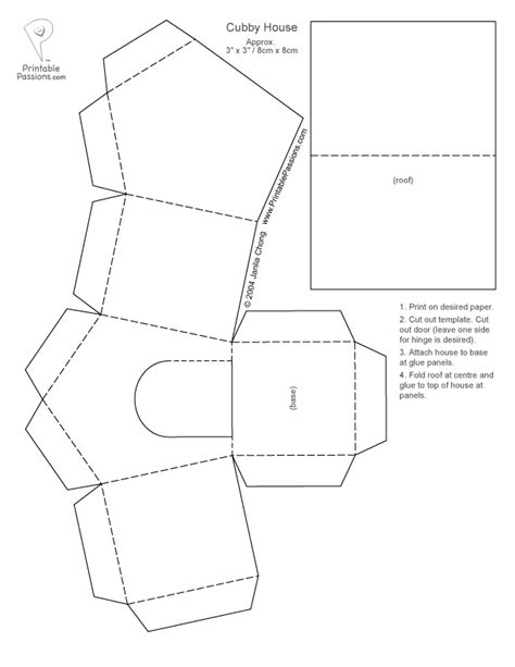 free cardstock templates paper houses cutouts print the cubby house template out