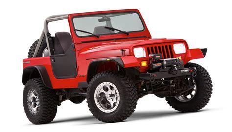 bushwacker flat style fender flares for 87 95 jeep