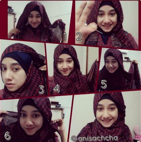 tutorial hijab cantik  mawar merah dreamcoid