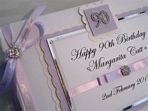 Personalised 90th Birthday Guest Book