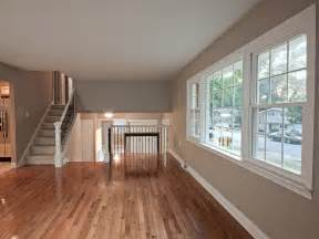 gleaming hardwood floors plus a gorgeous paint color in