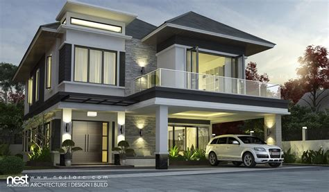 home design company in cambodia nest architecture view 03 project 06 modern villa design