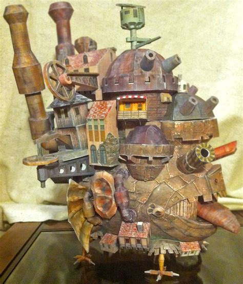 Howls Moving Castle Papercraft - howl s moving castle in papercraft the sue
