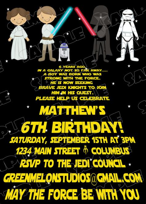 printable star wars invitations star wars scroll jedi birthday party printable invitations