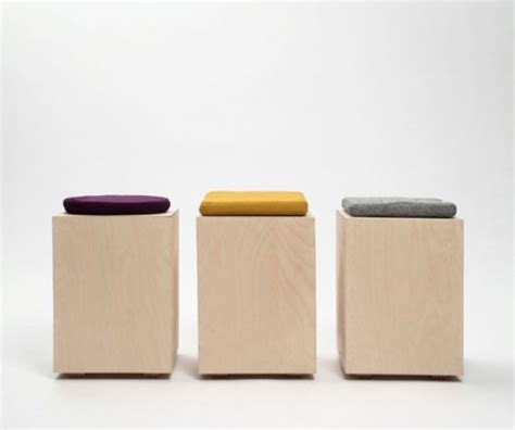 Box Stool by Minimalist Functional Stool Made Of A Box And A Cushion Digsdigs