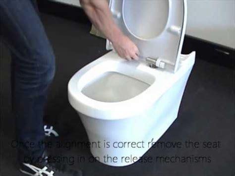 how to tighten a duravit toilet seat q seat installation youtube