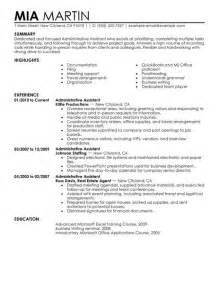 Sles Of Administrative Assistant Resumes by Administrative Assistant Resume Resume Cv