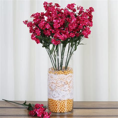 36 bushes baby breath silk filler flowers for wedding centerpieces bouquets sale ebay