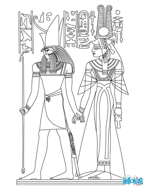 yoruba mythology coloring book the gods and goddesses of yorubaland books horus and nefertiti deities coloring pages hellokids