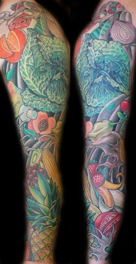 vegetable tattoo pinterest fruits and vegetables sleeve tattoos
