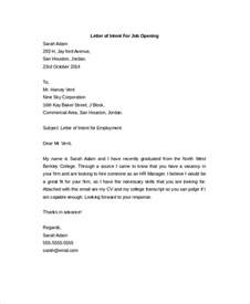 Letter Of Intent Template For Position Letter Of Intent 15 Free Word Pdf Documents