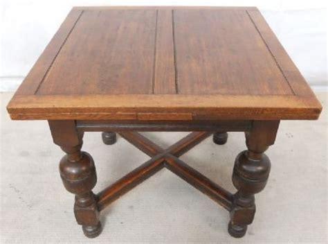 antique tudor style oak extending dining table 122991