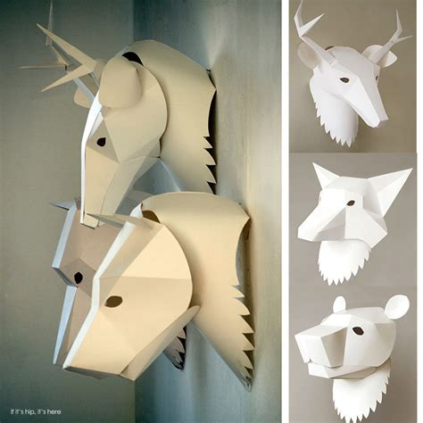 3d animal mask templates soroche creates 3d paper animal masks for the wall or