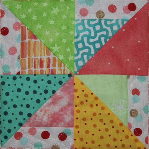 Easy Pinwheel Quilt Block by Easy Scrappy Pieced Pinwheel Pdf Quilt Block By Mspdesignsusa