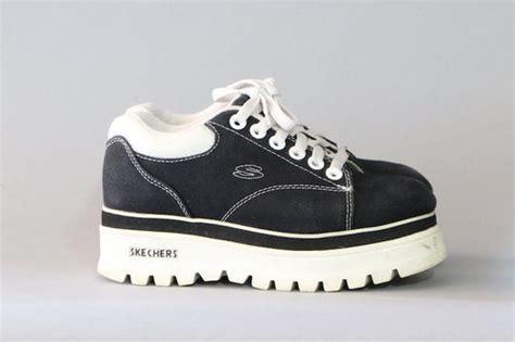 90s Skechers by Skechers Platforms Lace Up Sporty Platform Shoes By Ntrdmnsnl